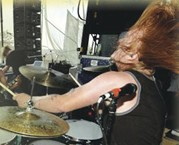 drummer Aaron Gillespie of Underoath
