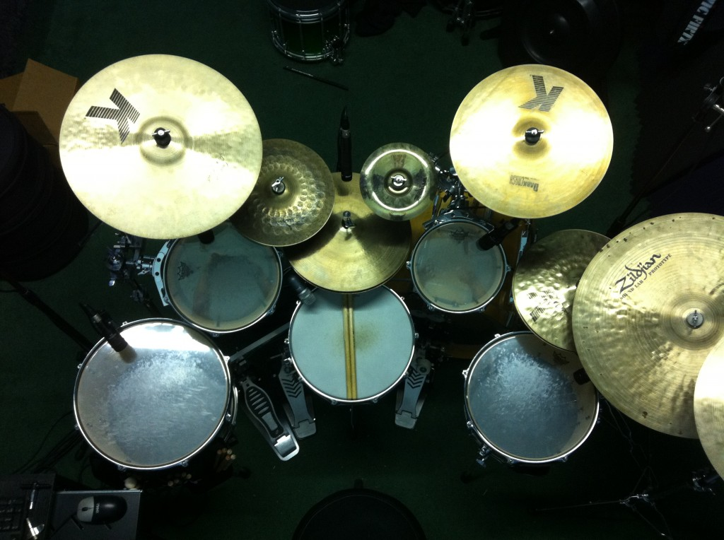 Bachman drums overhead shot
