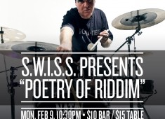 For fans of world percussion and dancehall/hip-hop drums, there will be two shows on Monday, February 9, 2015 at the Blue Note Jazz Club, 131 W. 3rd Street, New York, NY 10012. The 8 pm show will feature Vinx and Rhythm Nomads with special guest Swiss Chris....