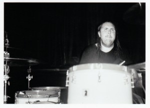 "drummer Brett ""the Ratt"" Romnes of I Am the Avalanche Photos by Julian Gilbert"