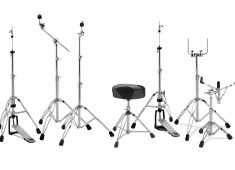 Drum Workshop's new line of high-quality, price-conscious drumset hardware under the PDP concept banner boasts a range of stands and thrones that includes a two-legged and three-legged hi-hat, snare stand, straight cymbal stand, boom cymbal stand, and a throne....