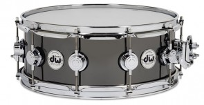 DW Collector's 5.5x14 Black Nickel Over Brass Snare drum