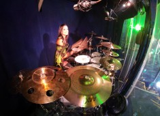 """As a traveling musician in the traditional big top, I am able to implement my strong music theory background and improvisational skills while providing accompaniment and action on stage as my role of the """"Goddess of Rhythm."""""""