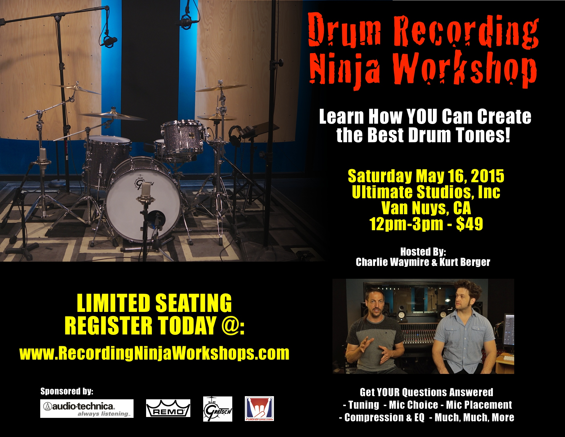 Drum Recording Ninja Workshop SM