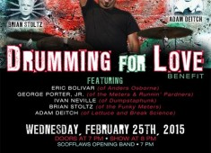 A special evening of Nawlins' funk featuring an all-star lineup will be held on Wednesday, February 25, in the Marlin Room inside NYC's Webster Hall at 7 pm. The event was set up to benefit Tab Benoit drummer Eric Bolivar, who's suffering from polycystic kidney disease.