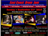The East Coast Drum Jam will take place on Sunday, September 21, 2014 at the DoubleTree Hotel Ballroom at US Hwy 1 South in Princeton, New Jersey....