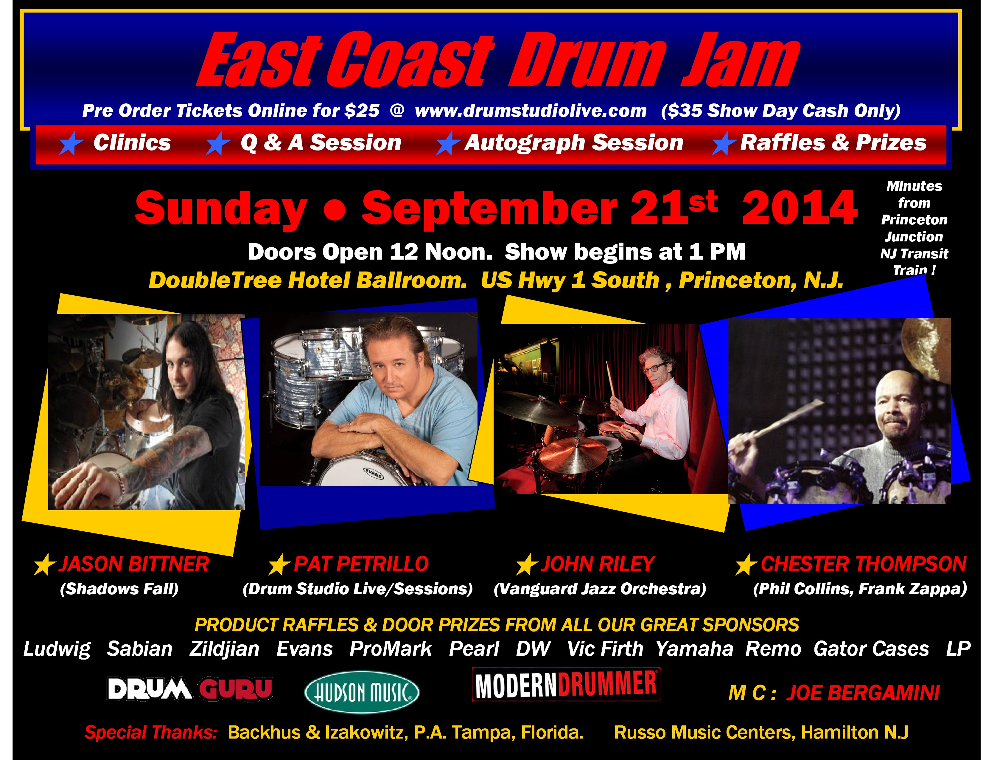 East Coast Drum Jam Set for September 21st