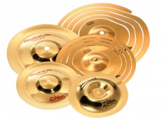 "Zildjian's fx 10"" and 12"" Spiral Stackers are paper-thin in weight and provide an inexpensive entry into trashy cymbal stacking sounds...."