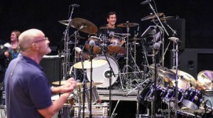 Drummer David Frangioni and Phil Collins