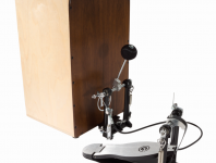 Gibraltar's Second Generation Strap Drive cajon pedal allows the drummer to use a cajon like a bass drum. Changes include fixed-position cable housings that keep the cable in-line, along with fixed-adjust CAM drives....