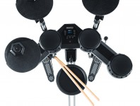 Sporting a new industrial design and a space-conscious footprint, the SD100KIT electronic drumset is ideal for beginners, students, and drummers looking for a practice kit....