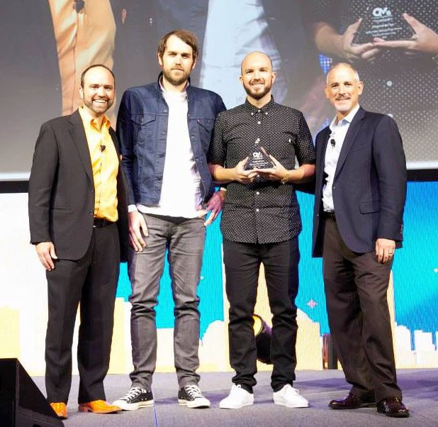 L-R: Joe Pulizzi, founder, Content Marketing Institute; Dustin Hinz, VP of Brand Experience & Entertainment Marketing, Guitar Center; Lee Diskin, manager of video production, Guitar Center; Matt Petersen, CEO, McMurry/TMG.