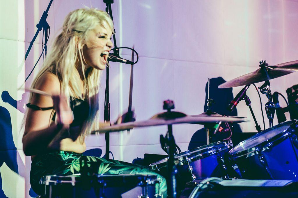 Drummer Blog: Purple's Hanna Brewer Talks Big Drums, Dark Cymbals, and Hitting Hard
