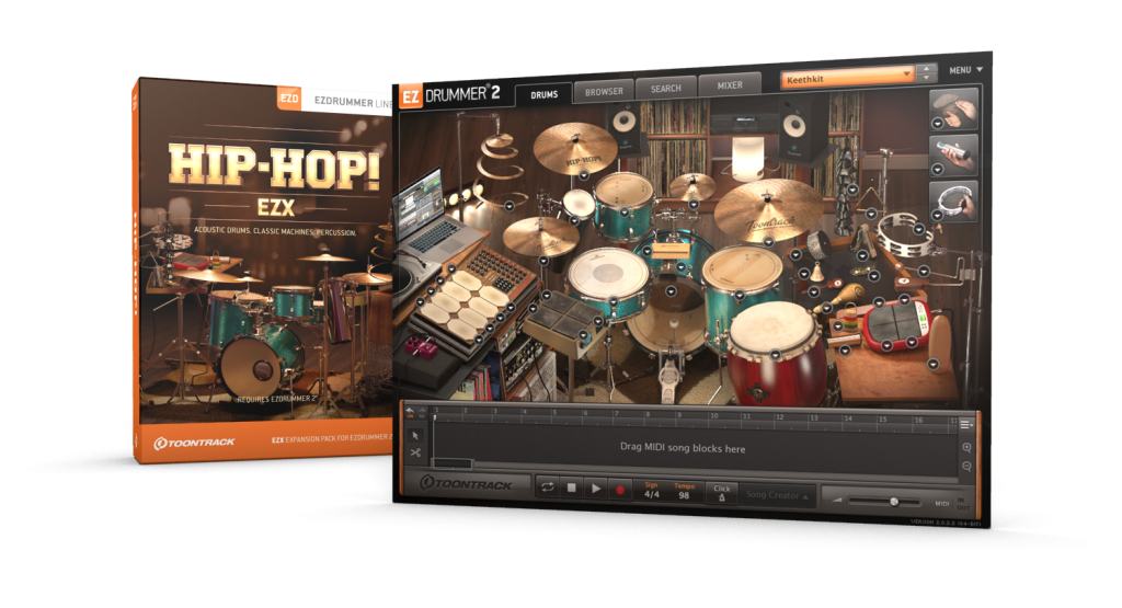 Toontrack EZdrummer 2 Hip-Hop EZX Expansion Pack