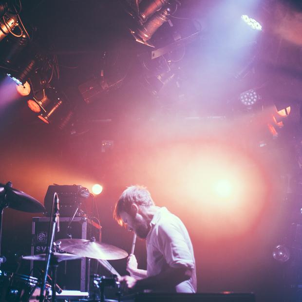 Photo by Liz Eastman; Drummer JR Kurtz of Cansei de Ser Sexy