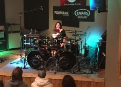 In October of 2014, Moore Music held its first annual Drum Day event, featuring former Megadeth drummer Shawn Drover. Drover's explosive style of metal drumming was well received by all in attendance and requests for Shawn's return to Moore Music poured in quickly....