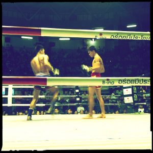 Brendan Buckley Drummer Blog - Front row at a Thai Boxing event in Bangkok