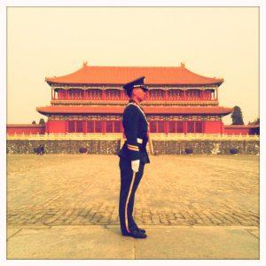 Brendan Buckley Drummer Blog - Soldier at the Forbidden City, Beijing