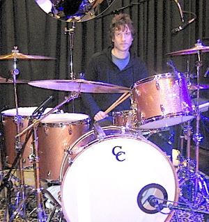 Nada Surf Drummer Ira Elliot behind the drums