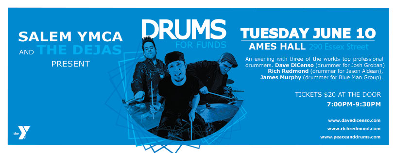 Three of the World's Top Drummers to Perform at the Salem YMCA