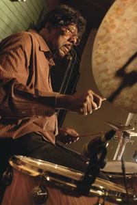 James Gadson behind the drumkit