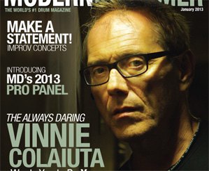 January 2013 Issue of Modern Drummer