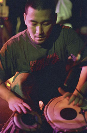 Percussionist Jiro Yamaguchi of Ozomatli