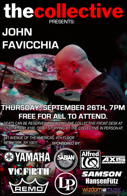 Drummer John Favicchia Free Clinic
