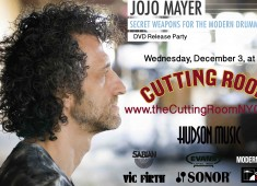 On December 3, 2014, drumming great Jojo Mayer will present a clinic and performance to celebrate the release of his new DVD set, Secret Techniques for the Modern Drummer, Part 2: Foot Techniques, at the Cutting Room in New York City. A free live stream of the event, starting at 7:30PM EDT, can be seen...