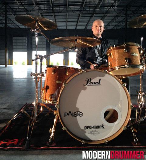 Drummer Justin Benner of Hawk Nelson