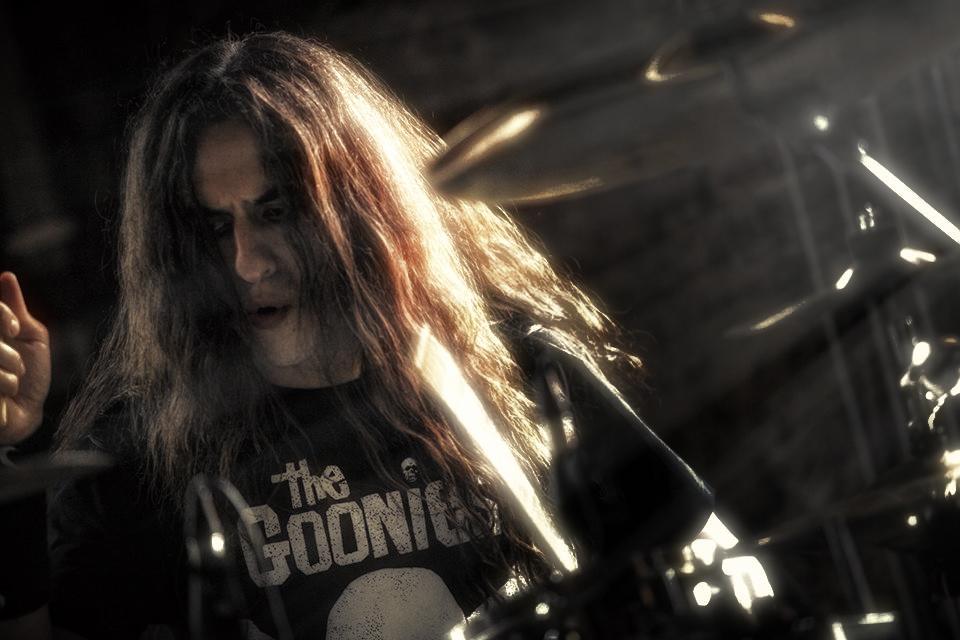 Drummer Kostas Milonas of Sunburst, New Day Slave, and Mario Fragoulis