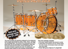 This iconic drumset was specially configured for the celebration event created and founded by Ludwig, Paiste, Remo, and Regal Tip artist Brian Tichy. This drumset was showcased in the 2015 Bonzo Bash VIP area and features an autographed 3 Ring logo bass drum head from the event's various participants...