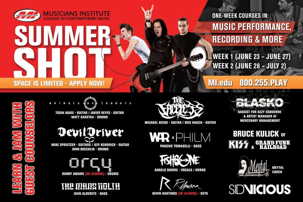 Musicians Institute Summer Shot 2013