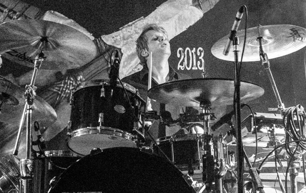 Drummer Mike Kelly of the Mission