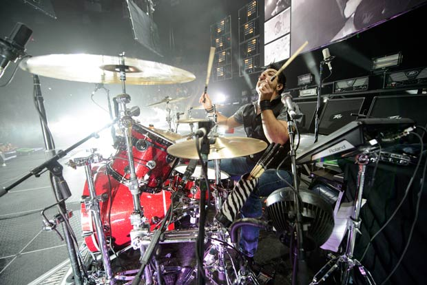 Drummer Rich Redmond at MSG