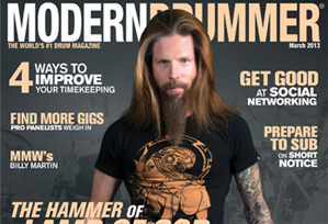 March 2013 Issue of Modern Drummer