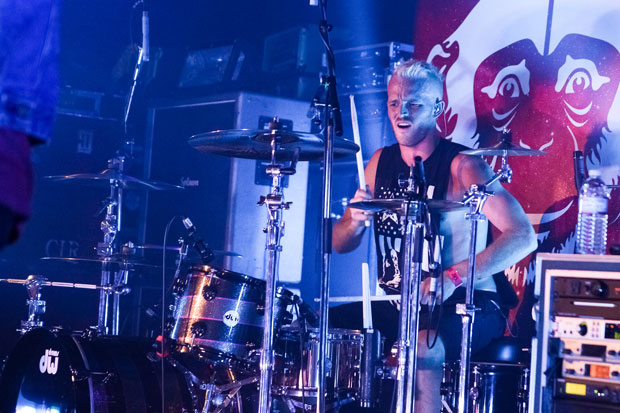 Drummer Nick Gross of Open Air Stereo photo by Mike Windle