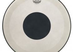 Inspired by legendary drummer Steve Smith, the Powerstroke 3 Black Dot bass drum head features a thin underlay ring at the outer edge of the head to subtly dampen unwanted overtones....
