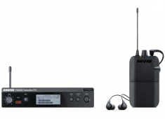 The PSM 300 introduces the clarity and precision of stereo, 24-bit digital audio to personal monitoring while bringing the custom-mix control that Shure PSM systems are known. PSM 300 has two offerings, one easy-to-use model designed for entry-level users (P3TR112GR), and a professional system (P3TRA215CL) with advanced features....