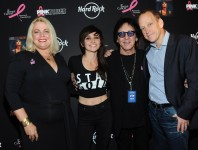 <b>Peter Criss Attends Hard Rock Cafe's Pinktober for Breast Cancer Awareness</b>