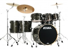 Tama has added its shallow-shelled Hyper-Drive configuration to the Starclassic Performer B/B to create the modern B/B EFX Hyper-Drive kit. Each six-piece configuration is available in a choice of two classic Delmar glass glitter finishes....