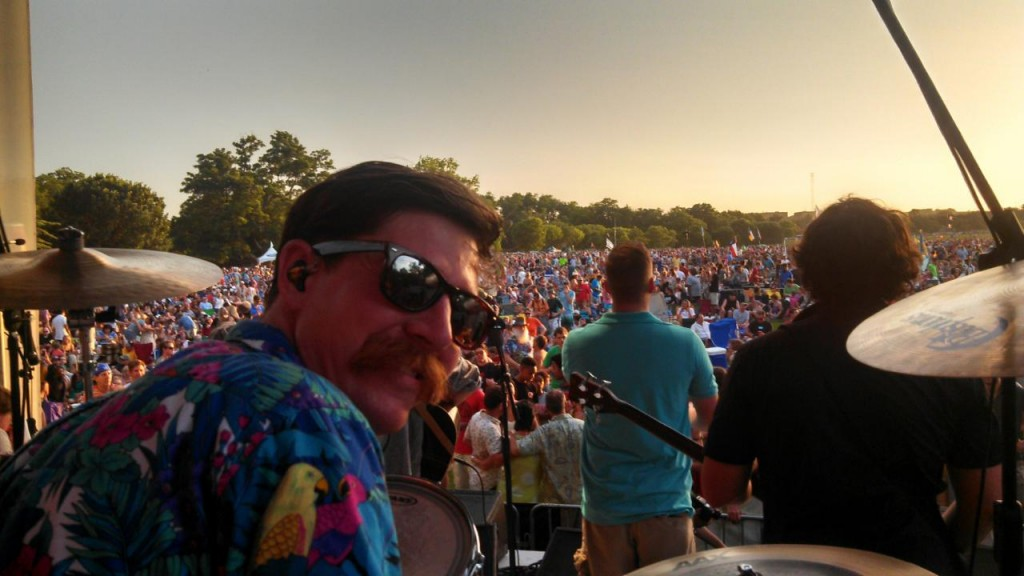 Drummer Patrick Wheeler of the Wheeler Brothers