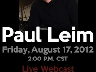 <b>Free Paul Leim Live Webcast Friday, August 17th</b>