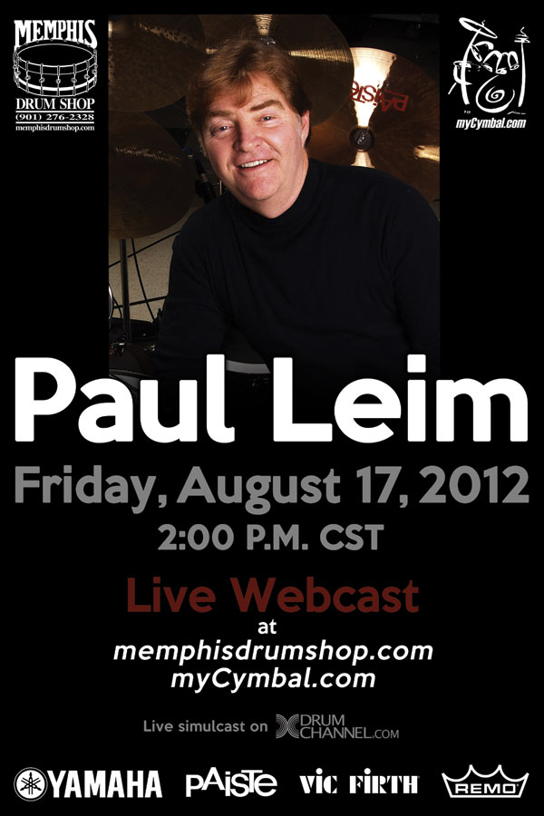 Free Paul Leim Live Webcast Friday, August 17th
