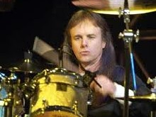 Drummer Phil Ehart of Kansas behind the drumkit