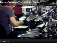 "<b>Stephen Perkins Performs ""Who Are You"" at Guitar Center Clinic (Video)</b>"