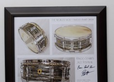 """The Percussive Arts Society and Gary Astridge, noted Beatles drum gear historian, are raffling a rare Ringo Starr signed print, entitled """"The World's Most Famous Snare Drum,"""" in support of Ringo and Barbara Starkey's Lotus Foundation charity and the Percussive Arts Society...."""
