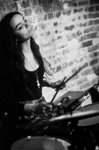 Drummer Rachel Trachtenburg of the Prettiots and Larry & the Babes