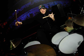 drummer Randy Cooke playing