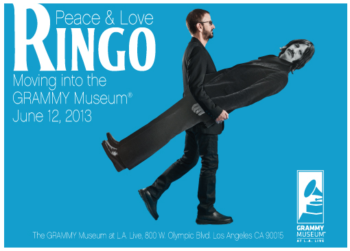 Ringo: Peace & Love To Premier At The GRAMMY Museum June 12, 2013 and Tour Select Cities Through 2014
